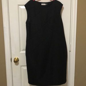 Black Calvin Klein asymmetrical design short dress